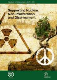 Supporting Nuclear non-proliferation and Disarmament