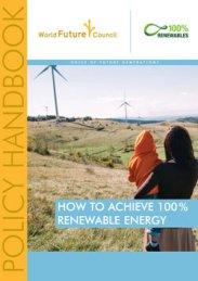How to achieve 100% Renewable Energy